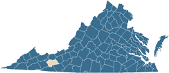 Map of Wythe County